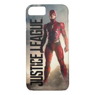 Capa iPhone 8/ 7 Liga de justiça   o flash no campo de batalha