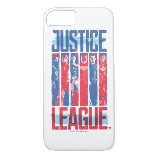 Capa iPhone 8/ 7 Liga de justiça pop art azul & vermelho de   do