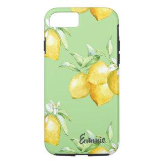 Capa iPhone 8/ 7 Limões amarelos na luz - verde