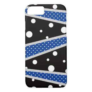 Capa iPhone 8/ 7 Linha azul preta das bolinhas