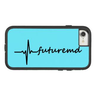 Capa iPhone 8/ 7 Linha da DM EKG do futuro & fundo personalizado da