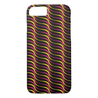 Capa iPhone 8/ 7 Linhas retros Funky coloridas da onda