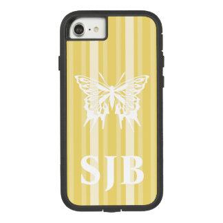 Capa iPhone 8/ 7 Listra amarela do Victorian com borboleta