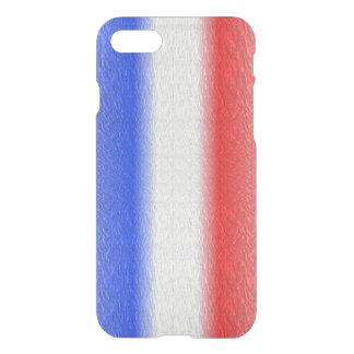 Capa iPhone 8/7 Listra branca e azul vermelha