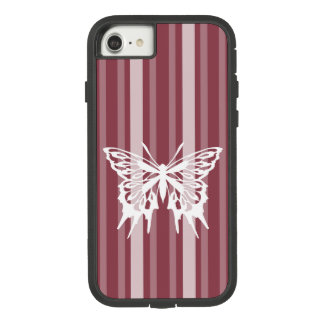 Capa iPhone 8/ 7 Listra cor-de-rosa do Victorian da obscuridade com
