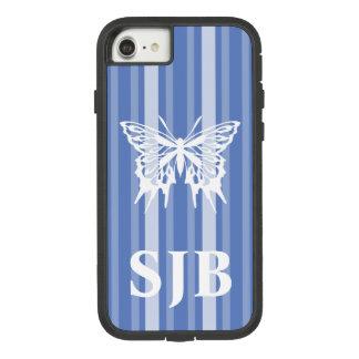 Capa iPhone 8/ 7 Listra do Victorian de Danúbio com borboleta