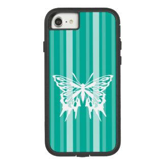 Capa iPhone 8/ 7 Listra do Victorian do Aqua com borboleta