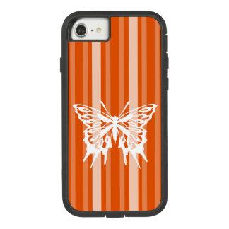 Capa iPhone 8/ 7 Listra do Victorian do caqui com borboleta
