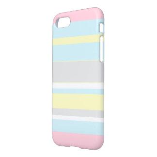 Capa iPhone 8/7 Listras à moda IPhone das cores Pastel 8/7 de caso