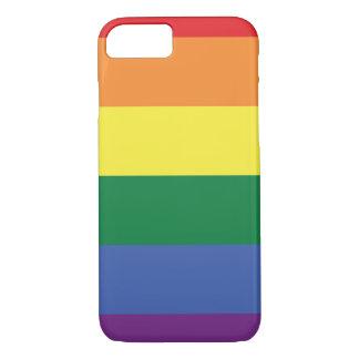 Capa iPhone 8/ 7 Listras do design   da bandeira do orgulho de LGBT