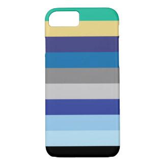 Capa iPhone 8/ 7 Listras horizontais em cores do inverno