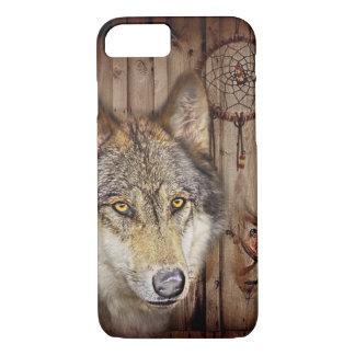 Capa iPhone 8/ 7 Lobo ideal ocidental do indiano do nativo