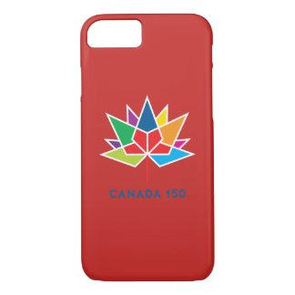 Capa iPhone 8/ 7 Logotipo do oficial de Canadá 150 - multicolorido