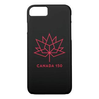 Capa iPhone 8/ 7 Logotipo do oficial de Canadá 150 - preto e