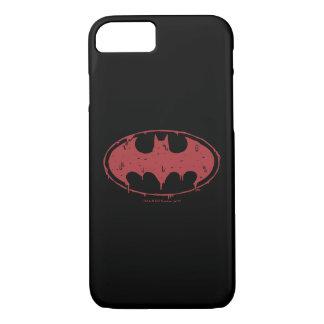Capa iPhone 8/ 7 Logotipo Oozing do bastão vermelho de Batman |