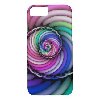 Capa iPhone 8/ 7 Loja espiral dos doces do Fractal