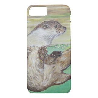 Capa iPhone 8/ 7 Lontra de rio brincalhão