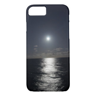 Capa iPhone 8/ 7 lua do caso do iPhone 7 & praia do oceano na noite
