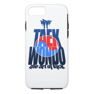Capa iPhone 8/ 7 Luta da montanha de Taekwondo - caso do iPhone 7