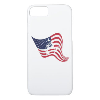 Capa iPhone 8/ 7 Luta do Wrestle do amor da bandeira americana