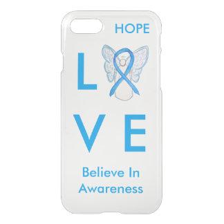 Capa iPhone 8/7 Luz - caixa azul do anjo do iPhone 7 da fita da