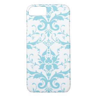 Capa iPhone 8/ 7 Luz - caixa azul do iPhone 7 do damasco