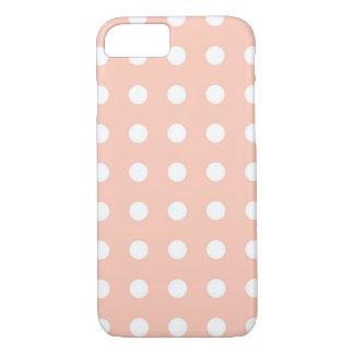 Capa iPhone 8/ 7 Luz - caixa chique branca cor-de-rosa do iPhone 7
