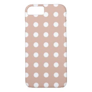 Capa iPhone 8/ 7 Luz - caixa chique branca marrom do iPhone 7 das