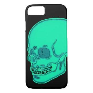 Capa iPhone 8/ 7 Luz de néon do crânio - azul