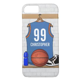 Capa iPhone 8/ 7 Luz personalizada do jérsei do basquetebol -