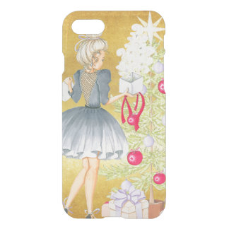 Capa iPhone 8/7 Mágica do Natal - louro que decora uma árvore