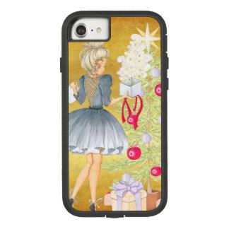 Capa iPhone 8/ 7 Mágica do Natal - louro que decora uma árvore