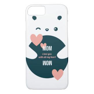 Capa iPhone 8/ 7 Mamã, eu te amo com todos meus namorados