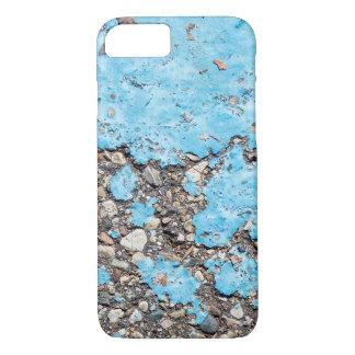 Capa iPhone 8/ 7 mancha da pintura de turquesa no asfalto
