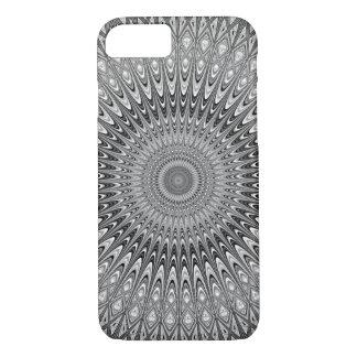 Capa iPhone 8/ 7 Mandala cinzenta