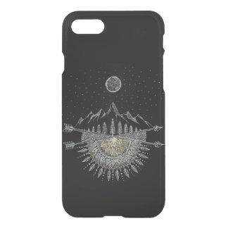 Capa iPhone 8/7 Mandala da cordilheira da lua e do céu nocturno