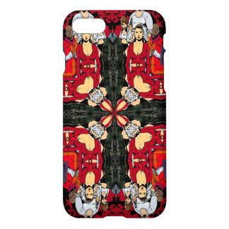 Capa iPhone 8/7 Mandala velha tripla da guerra de Gangsta