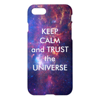 Capa iPhone 8/7 Mantenha a calma e confie o universo