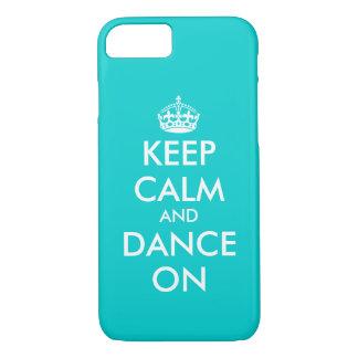 Capa iPhone 8/ 7 Mantenha a calma e dance no caso   Customizabl do