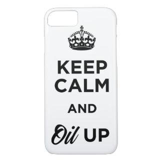 Capa iPhone 8/ 7 Mantenha a calma e lubrifique-a acima