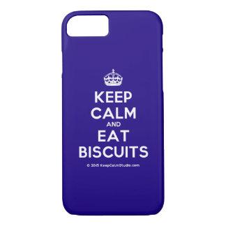 Capa iPhone 8/ 7 Mantenha calmo e coma biscoitos