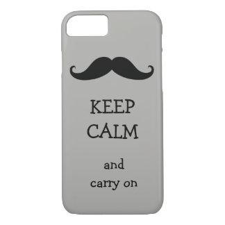 Capa iPhone 8/ 7 Mantenha calmo e continue o design do bigode