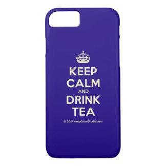 Capa iPhone 8/ 7 Mantenha chá calmo e da bebida