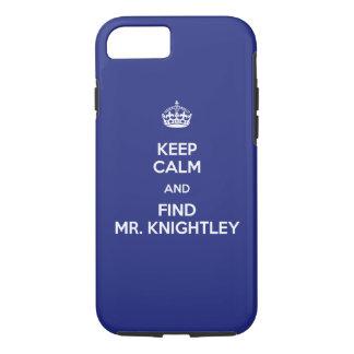 Capa iPhone 8/ 7 Mantenha o Sr. calmo Knightley Emma Jane Austen do