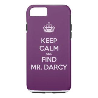 Capa iPhone 8/ 7 Mantenha Sr. Darcy Jane Austen calmo e do achado