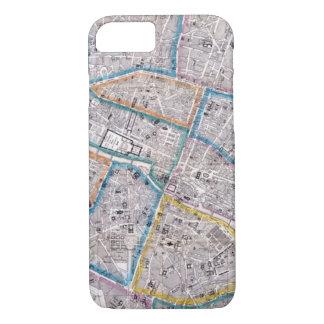 Capa iPhone 8/ 7 Mapa antigo de Paris