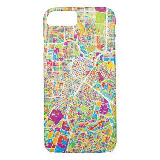 Capa iPhone 8/ 7 Mapa de néon de Houston, Texas |