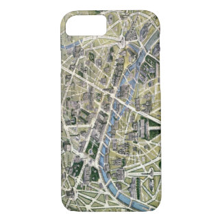 Capa iPhone 8/ 7 Mapa de Paris durante o período dos Grands