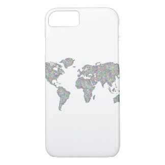 Capa iPhone 8/ 7 Mapa do mundo