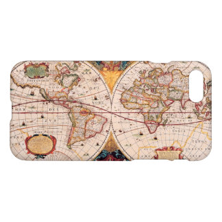 Capa iPhone 8/7 Mapa do mundo do vintage cerca de 1600